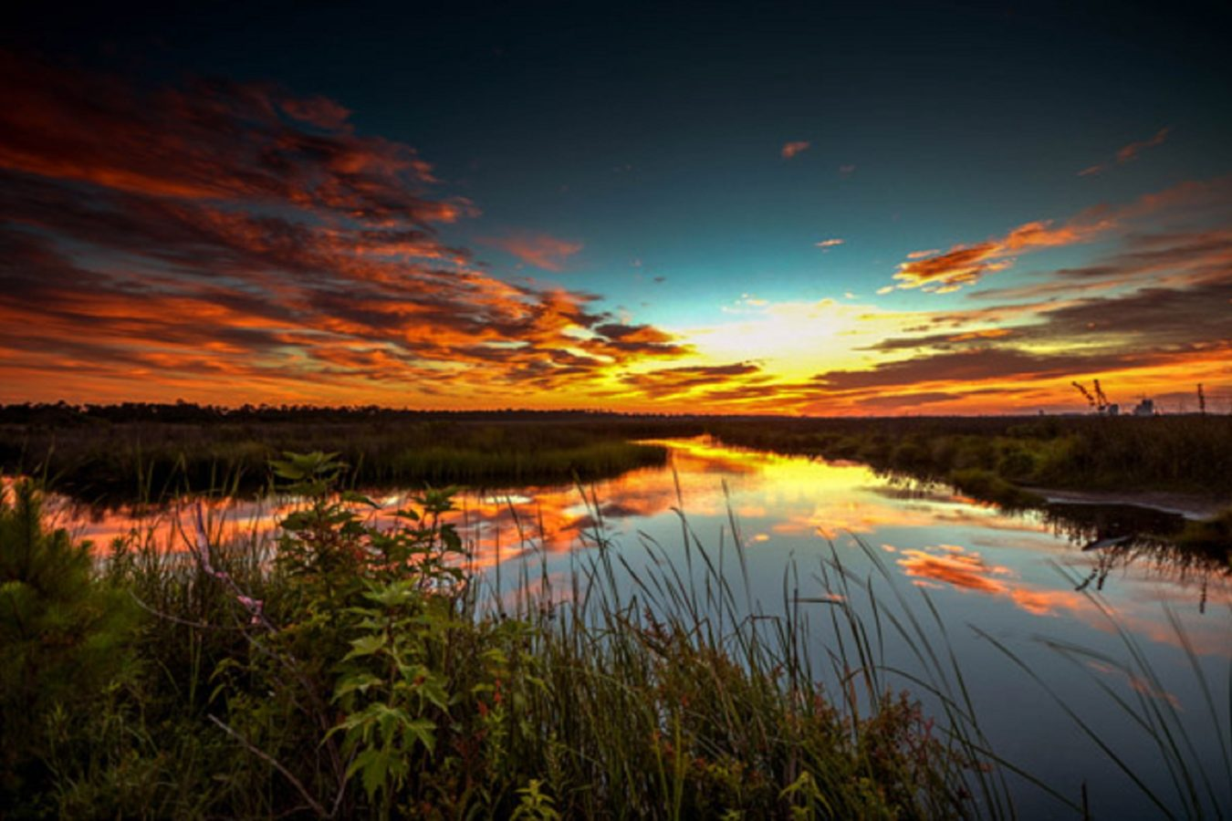 Lake Shelby Colored Sky Sunrise