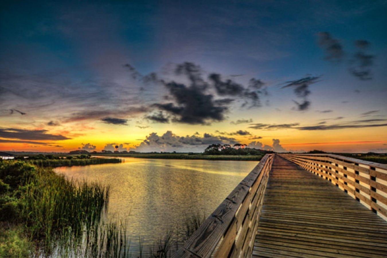 Lake Shelby Walkway at Sunrise