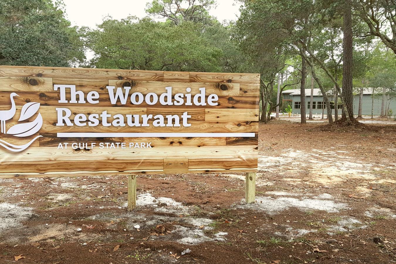 Woodside Restaurant Sign