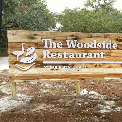Woodside Restaurant Sign